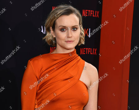 """Taylor Schilling attends the final season premiere of Netflix's """"Orange Is the New Black"""" at Alice Tully Hall, in New York"""