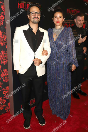 "Lin-Manuel Miranda, Vanessa Nadal. Lin-Manuel Miranda, left, and Vanessa Nadal attend the Broadway opening night of ""Moulin Rouge! The Musical"" at the Al Hirschfeld Theatre, in New York"