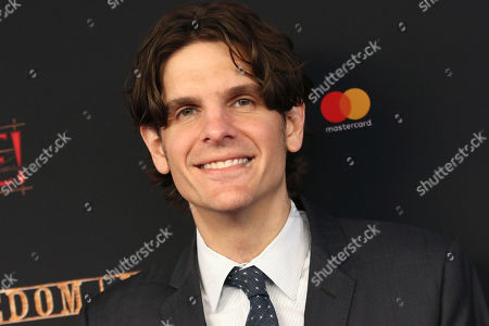"""Stock Picture of Alex Timbers attends the Broadway opening night of """"Moulin Rouge! The Musical"""" at the Al Hirschfeld Theatre, in New York"""