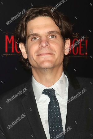 """Stock Photo of Alex Timbers attends the Broadway opening night of """"Moulin Rouge! The Musical"""" at the Al Hirschfeld Theatre, in New York"""