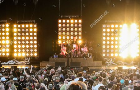 Jerry Cantrell, Sean Kinney, Mike Inez, William DuVall. Jerry Cantrell, Sean Kinney, Mike Inez and William DuVall with Alice in Chains performs at Ameris Bank Amphitheatre, in Atlanta