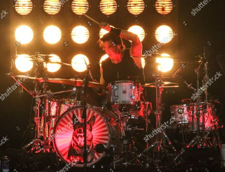 Sean Kinney with Alice in Chains performs at Ameris Bank Amphitheatre, in Atlanta