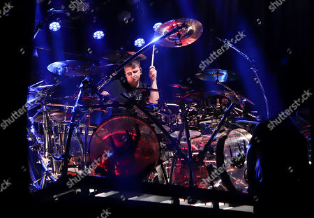 Ray Luzier with Korn performs at Ameris Bank Amphitheatre, in Atlanta