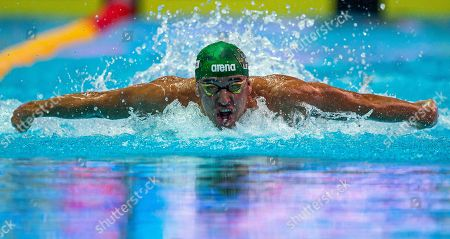 Chad Le Clos of South Africa competes in the Men's 100m Butterfly heats during the 2019 FINA World Championships, Gwangju, South Korea, 26 July 2019.