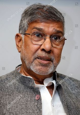 Indian children's rights activist and Nobel Peace Prize Winner Kailash Satyarthi speaks during interview in Bangkok, Thailand, 23 July 2019 (issued 26 July 2019). Satyarthi, a Nobel Peace Prize recipient, is in Bangkok to attend the Education International 8th World Congress.