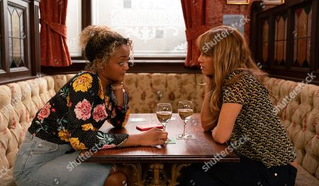 Ep 9844 Friday 9th August 2019 - 2nd Ep Emma, as played by Alexandra Mardell, returns from finally visiting her Dad in hospital and in a state of shock, tells Maria Connor, as played by Samia Longchambon, that he's been diagnosed with stomach cancer.