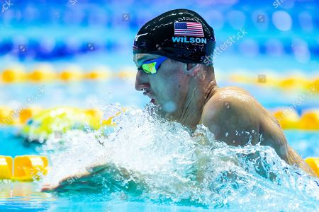 Andrew Wilson from USA during Men's 200m Breaststroke semifinals