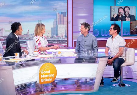 Adil Ray, Kate Garraway with Dick and Dom - Richard McCourt and Dominic Wood