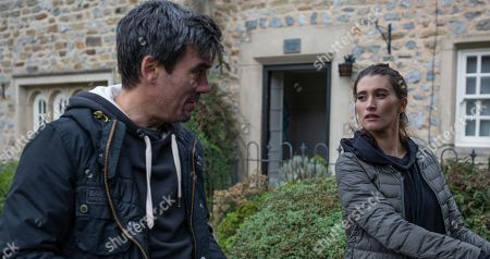 Ep 8558 Tuesday 6th August 2019 - 2nd Ep Cain Dingle, as played by Jeff Hordley, reacts badly to Debbie Dingle's, as played by Charley Webb, news and is wary of how Charity will take it.