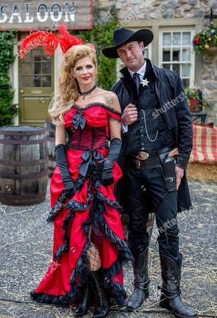 Ep 8550 Tuesday 30th July 2019 - 1st Ep Bernice Blackstock, as played by Samantha Giles, is still feeling down especially when Liam, as played by Jonny McPherson, insists he's not planning on attending the Wild West Fundraiser but Bernice manages to convince him, on admitting she's given him the role of the sheriff!