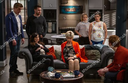 Ep 8560 Thursday 8th August 2019 - 1st Ep Robert Sugden, as played by Ryan Hawley, has been trying to persuade a reluctant Aaron Dingle, as played by Danny Miller, to go ahead with the surrogacy but when they hear Natalie's, as played by Thea Beyleveld, having second thoughts will Robert come clean to her over what has gone on? With Chas Dingle, as played by Lucy Pargeter ; Diane Sugden, as played by Elizabeth Estensen ; Liv Flaherty, as played by Isobel Steele ; Victoria Sugden, as played by Isabel Hodgins.