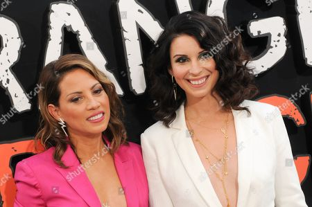 Elizabeth Rodriguez (L) and Beth Dover attend the 'Orange Is The New Black' Final Season Premiere in New York.