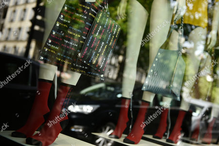 A view of models inside Sonia Rykiel shop windows on the Boulevard Saint Germain in Paris, France, 26 July 2019. According to reports on 25 July 2019 French Sonia Rykiel fashion house is going into liquidation following a court decision.