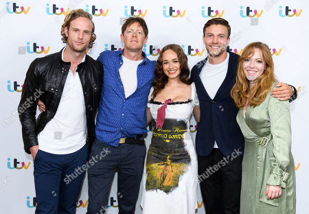 Jack Fox, Kris Marshall, Rose Williams, Leo Suter and Charlotte Spencer