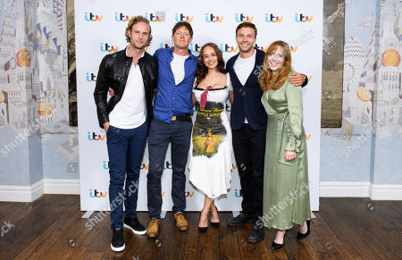 Stock Image of Jack Fox, Kris Marshall, Rose Williams, Leo Suter and Charlotte Spencer