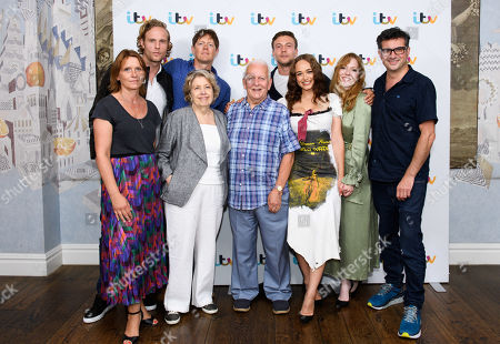 Stock Picture of Berlinder Campbell, Jack Fox, Kris Marshall, Anne Reid, Andrew Davis, Rose Williams, Leo Suter and Charlotte Spencer