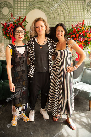 Sara Arnold, Tamsin Omond and Emily Sheffield Extinction Rebellion at the Fashion Foundation