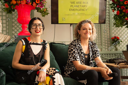 Sara Arnold and Tamsin Omond Extinction Rebellion at the Fashion Foundation