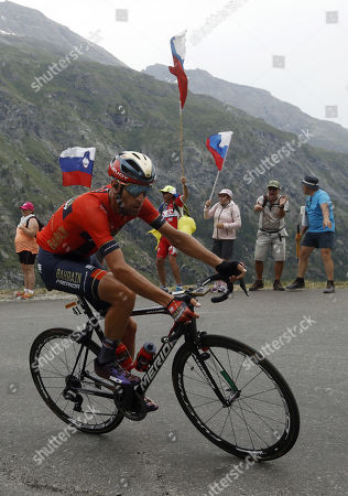 Italy's Vincenzo Nibali of Bahrain Merida team in action during the 19th stage of the 106th edition of the Tour de France cycling race over 126,5km between Saint Jean de Maurienne and Tignes, France, 26 July 2019.
