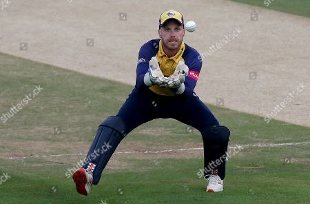 Adam Wheater of Essex collects the ball during Kent Spitfires vs Essex Eagles, Vitality Blast T20 Cricket at The Spitfire Ground on 26th July 2019