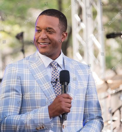 Craig Melvin appears on NBC's Today show at Rockefeller Plaza, in New York
