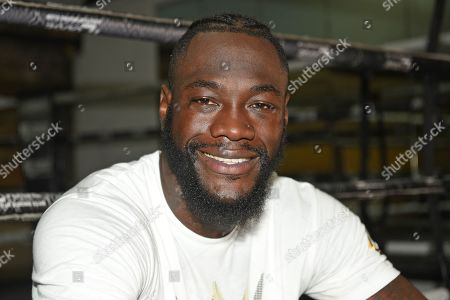 Deontay Wilder during a Media Event at Fitzroy Lodge Gym on 26th July 2019