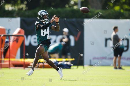 Philadelphia Eagles' Charles Johnson during practice at the NFL football team's training camp in Philadelphia