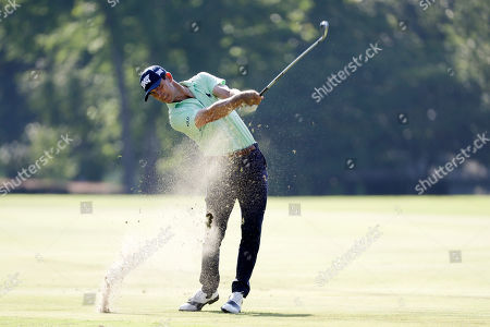 Billy Horschel makes a shot on the seventh hole during the second round of the World Golf Championships-FedEx St. Jude Invitational, in Memphis, Tenn