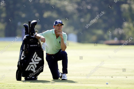Billy Horschel waits on the seventh hole for his turn to shoot during the second round of the World Golf Championships-FedEx St. Jude Invitational, in Memphis, Tenn