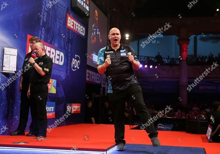 Stock Picture of Rob Cross during the last 8 of the World Matchplay Darts 2019 at Winter Gardens, Blackpool