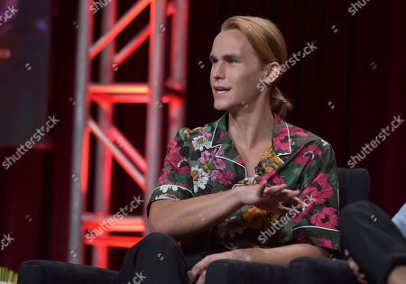 """Rhys Wakefield participates in Hulu's """"Reprisal"""" panel at the Television Critics Association Summer Press Tour, in Beverly Hills, Calif"""