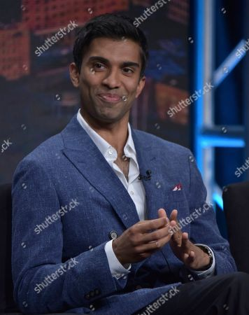 """Stock Photo of Nikesh Patel participates in Hulu's """"Four Weddings and a Funeral"""" panel at the Television Critics Association Summer Press Tour, in Beverly Hills, Calif"""