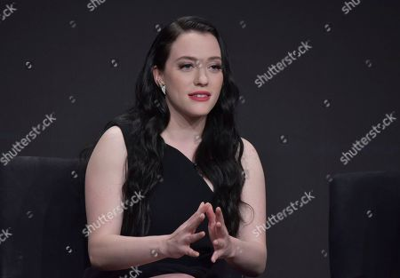 "Kat Dennings participates in Hulu's ""Dollface"" panel at the Television Critics Association Summer Press Tour, in Beverly Hills, Calif"