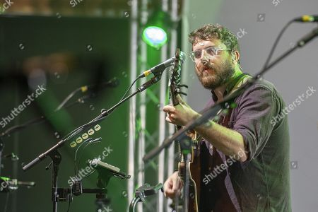 Stock Photo of Andrew Davie of the British folk- and Indieband of Bear's Den at the Blue Balls Festival in Lucerne, Switzerland, 26 July 2019. The music event runs from 19 to 27 July.