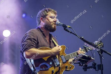 Stock Image of Andrew Davie of the British folk- and Indieband of Bear's Den at the Blue Balls Festival in Lucerne, Switzerland, 26 July 2019. The music event runs from 19 to 27 July.