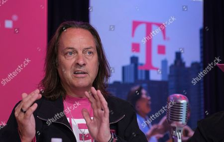IMAGE DISTRIBUTED FOR T-MOBILE - T-Mobile CEO John Legere reports record financials during the T-Mobile Q2 2019 Earnings call on in Bellevue, Wash. The company reported record-low postpaid phone churn of 0.78% and record service revenues of $8.4 billion - its strongest Q2 customer results in years