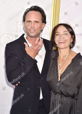 Stock Photo of Walton Goggins and Nadia Conners