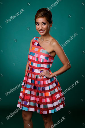 "Brenda Song, a cast member in the Hulu series ""Dollface,"" poses for a portrait during the 2019 Television Critics Association Summer Press Tour at the Beverly Hilton, in Beverly Hills, Calif"