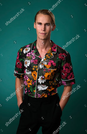 """Rhys Wakefield, a cast member in the Hulu series """"Reprisal,"""" poses for a portrait during the 2019 Television Critics Association Summer Press Tour at the Beverly Hilton, in Beverly Hills, Calif"""