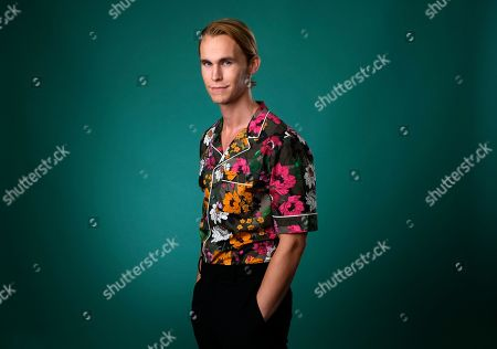 """Stock Picture of Rhys Wakefield, a cast member in the Hulu series """"Reprisal,"""" poses for a portrait during the 2019 Television Critics Association Summer Press Tour at the Beverly Hilton, in Beverly Hills, Calif"""