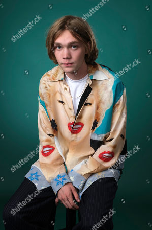 """Charlie Plummer, a cast member in the Hulu limited series """"Looking for Alaska,"""" poses for a portrait during the 2019 Television Critics Association Summer Press Tour at the Beverly Hilton, in Beverly Hills, Calif"""
