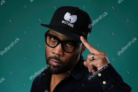 "Wu-Tang Clan member RZA, an executive producer of the Hulu miniseries ""Wu-Tang: An American Saga,"" poses for a portrait during the 2019 Television Critics Association Summer Press Tour at the Beverly Hilton, in Beverly Hills, Calif"