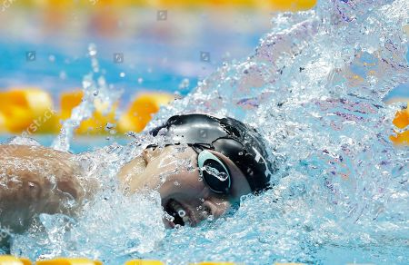 United States' Katie Ledecky swims in the women's 800m freestyle final at the World Swimming Championships in Gwangju, South Korea