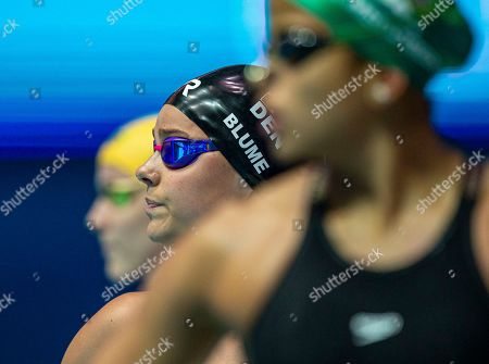 Stock Picture of Pernille Blume of Denmark prepares herself before competing in the women's 50m Freestyle heats during the Gwangju 2019 FINA World Championships in Gwangju, South Korea, 27 July 2019.