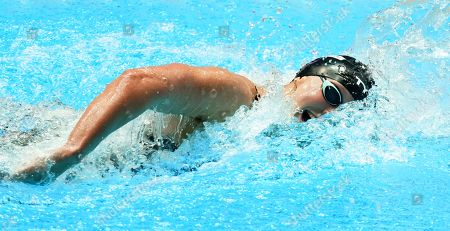 Katie Ledecky of USA competes during the Women's  800 m Freestyle Final at the 2019 FINA Swimming World Championships in Gwangju, South Korea, 27 July 2019.