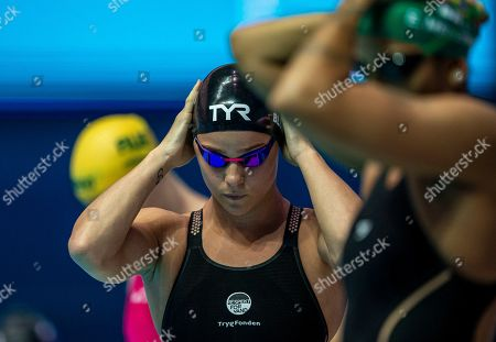 Pernille Blume of Denmark prepares herself before competing in the women's 50m Freestyle heats during the Gwangju 2019 FINA World Championships in Gwangju, South Korea, 27 July 2019.