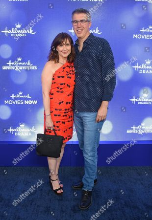 Stock Image of Kellie Martin and Keith Christian