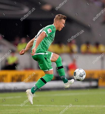 Stock Image of 26.07.2019, Football 2.Bundesliga 2019/2020, 1. match day, VfB Stuttgart - Hannover 96, in Mercedes-Benz-Arena Stuttgart, Matthias Ostrzolek (Hannover 96) .