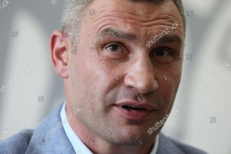Stock Photo of Vitali Klitschko speaks
