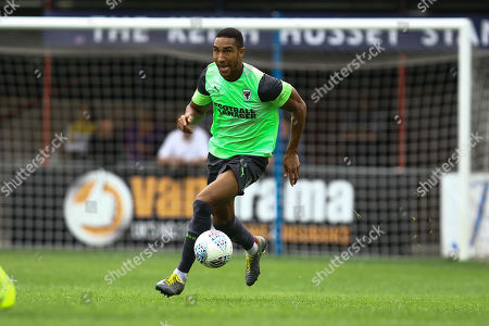 Stock Photo of Terrell Thomas of AFC Wimbledon during Hampton & Richmond Borough vs AFC Wimbledon, Friendly Match Football at the Beveree Stadium on 27th July 2019
